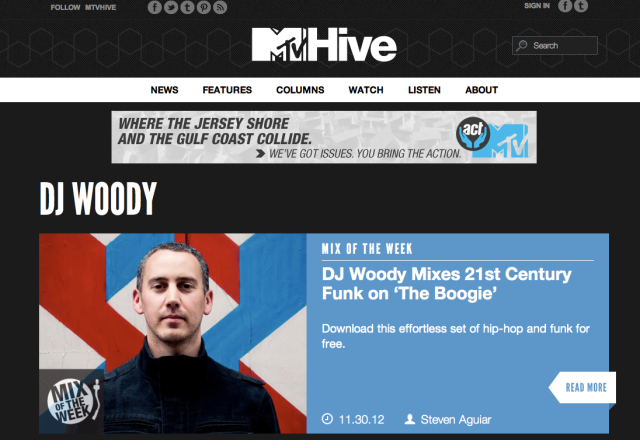 The Boogie (DJ Woody Mix) wins 'Mix Of The Week' on MTV